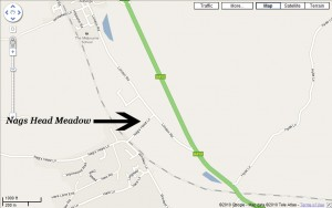 map showing location of Great Missenden Pelicans CC