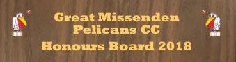 Great Missenden Pelicans honours 2018