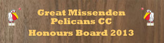 great missenden pelican honours board
