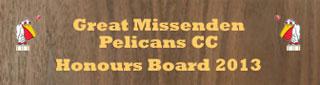 great missenden pelican honours board
