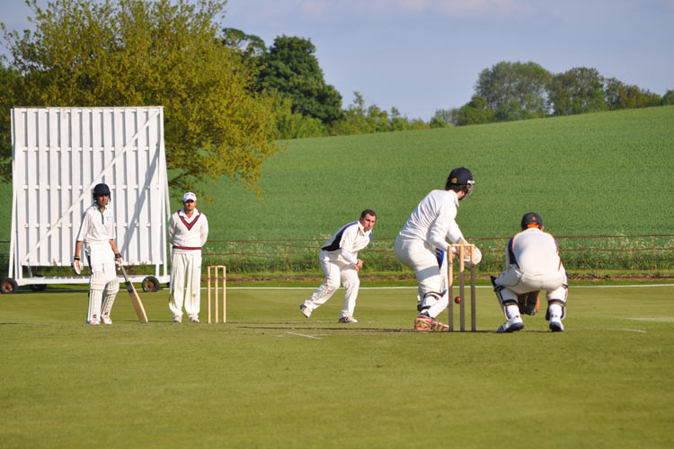 Cullen and Rehman at the wicket for Great Missenden Pelicans CC