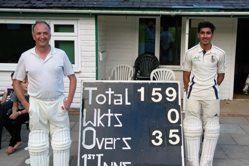 Asad Rehman Clive Nicholls 159 unbroken first wicket stand Great Missenden Pelicans vs Winchmore Hill